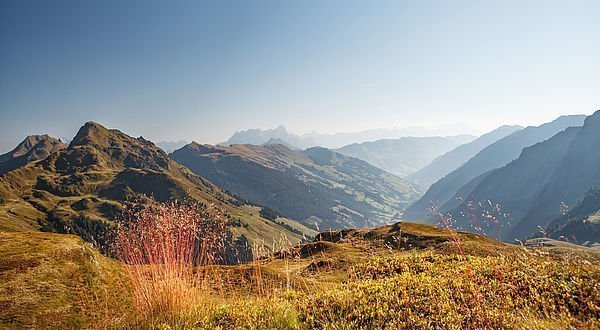 Blick auf das Bergpanorama