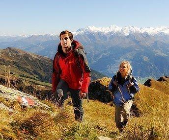 Wanderer beim Anstieg