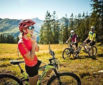 Biker in den Salzburger Bergen