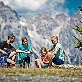 Familien beim Wandern