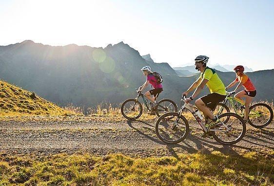 Mountainbiker bei einer Tour