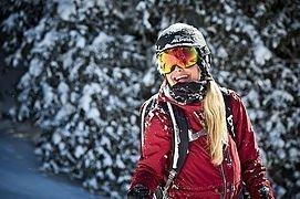 Skifahrerin in Saalbach Hinterglemm